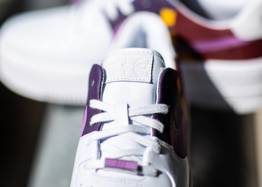 Nike Air Force 1 Sage Low Lux blanche gris et violet BV1976-003 (4)