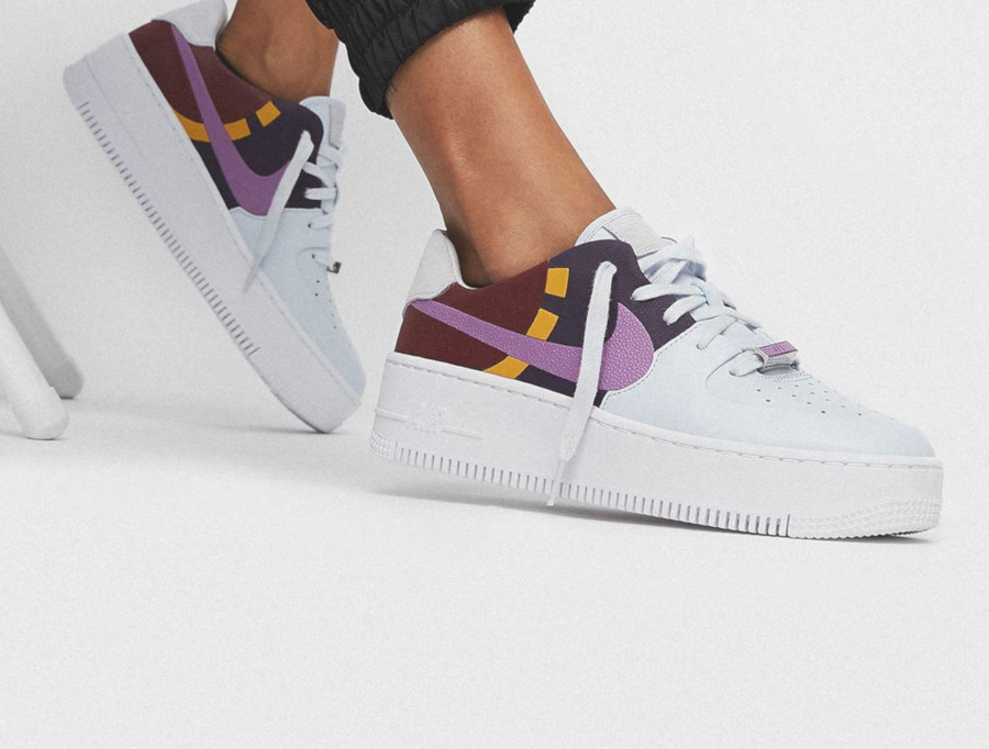 air force 1 grise motif