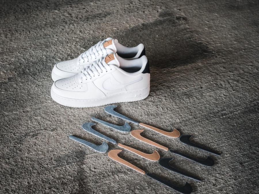 Nike Air Force 1 Swoosh Interchangeable Vachetta Tan