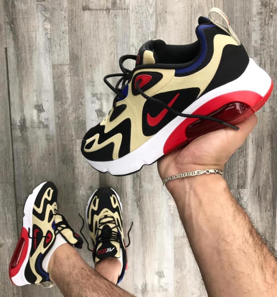 Nike Air Max 200 beige noire et rouge (1)