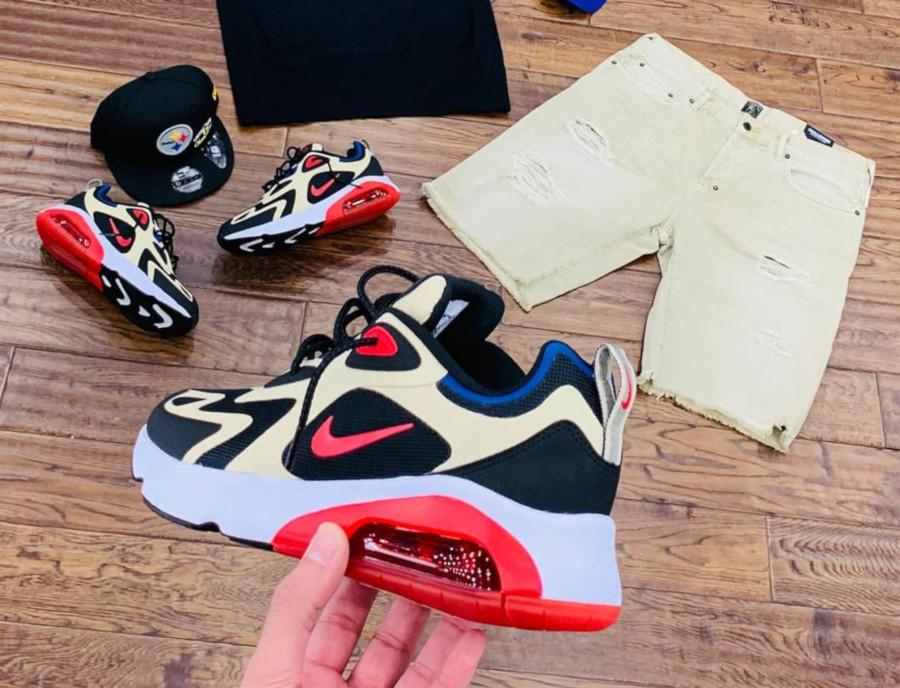 Nike Air Max 200 beige noire et rouge (2)