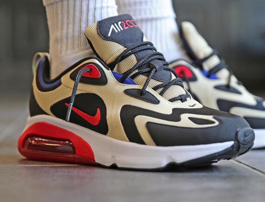 Nike Air Max 200 beige noire et rouge (3)