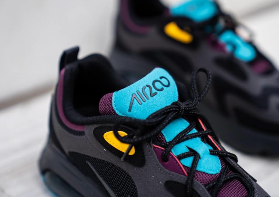 Nike Air Max 200 noire grise violet jaune et turquoise (3)