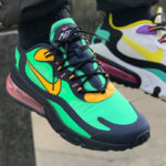 Nike Air Max 270 React 'Pop Art' Electro Green Yellow Ochre