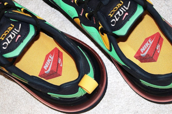 Nike Air Max 270 React vert noire et jaune (1)