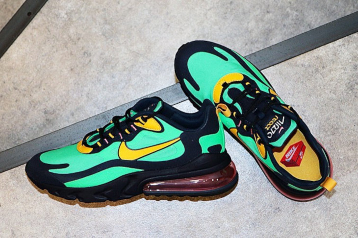 Nike Air Max 270 React vert noire et jaune (2)