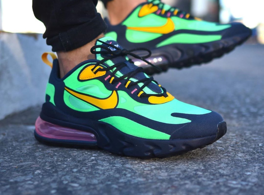 Nike-Air-Max-270-React-vert-noire-et-jaune-7 (2)