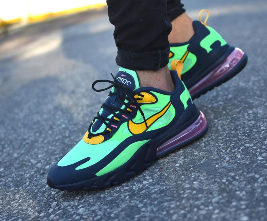 Nike-Air-Max-270-React-vert-noire-et-jaune-7 (3)