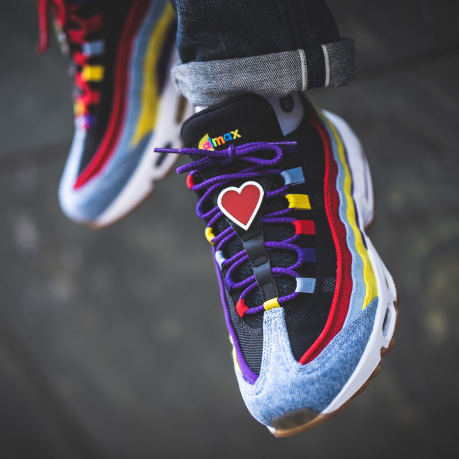 Nike Air Max 95 Special Project bleu violet jaune et orange (3-1)