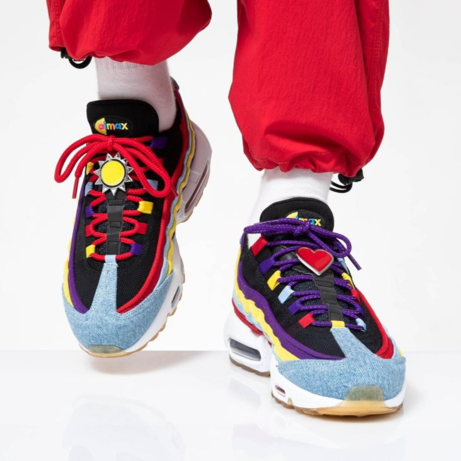 Nike Air Max 95 Special Project bleu violet jaune et orange (4)