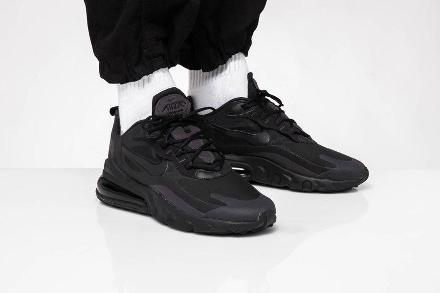 Nike Air Max React 270 grise et noire pour homme (4)