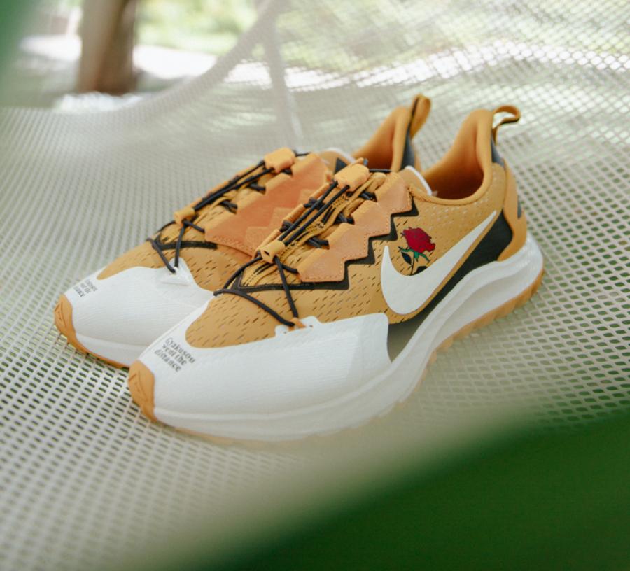 Nike Air Zoom Pegasus 36 Trail blanche et jaune moutarde CD0383-700 (1)