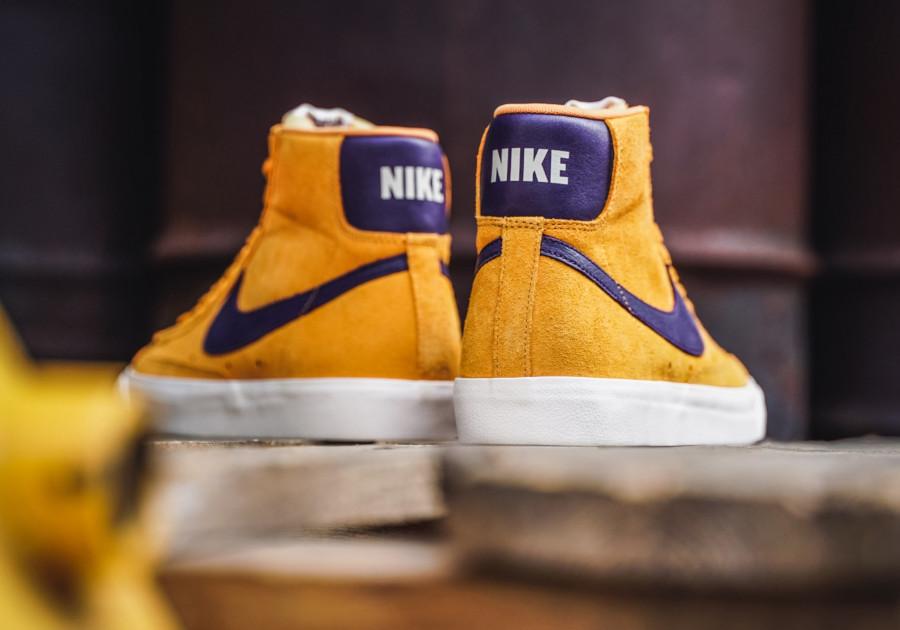 Nike-Blazer-mi-montante-en-suède-jaune-et-violet-2