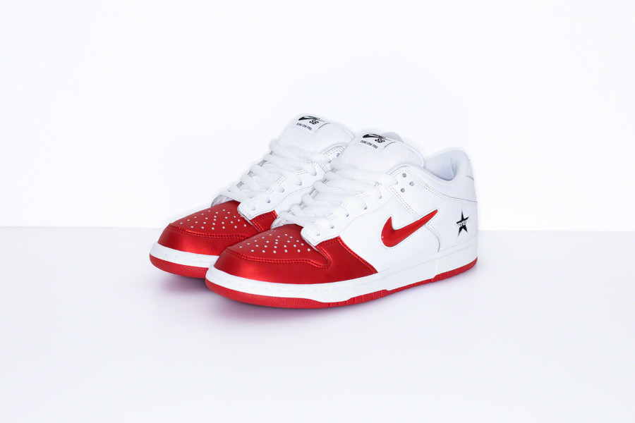 Nike Dunk Low SB blanche et rouge CK3480-600 (3)
