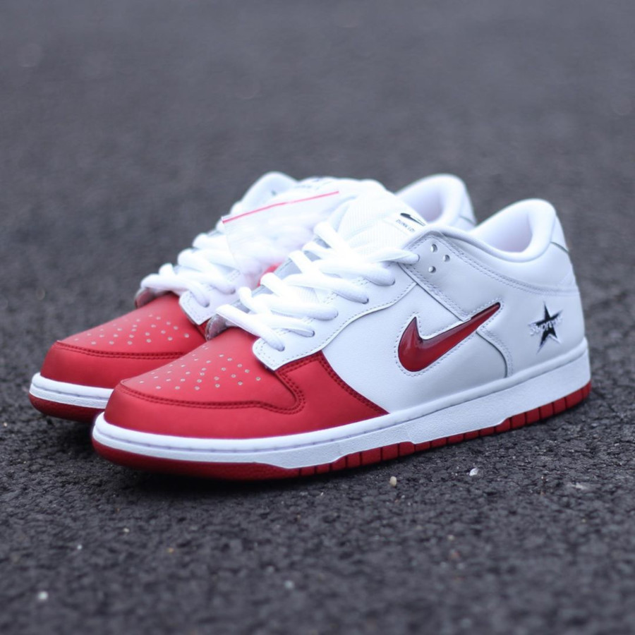Nike Dunk Low SB blanche et rouge CK3480-600 (5)