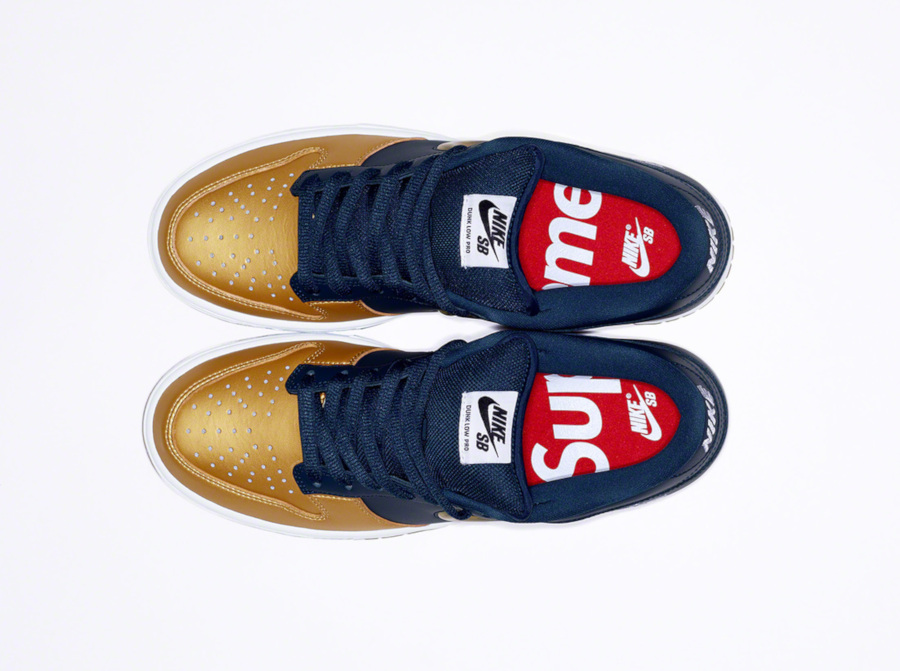 Nike Dunk Low SB bleu marine dorée CK3480-700 (1)