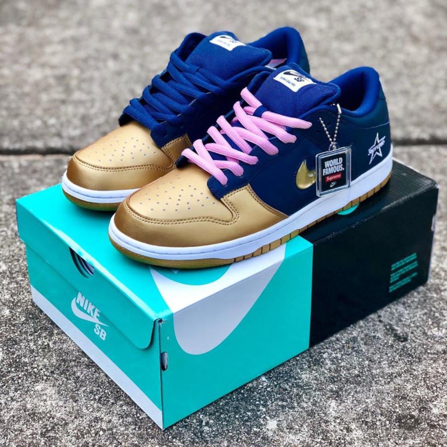 Nike Dunk Low SB bleu marine dorée CK3480-700 (4)