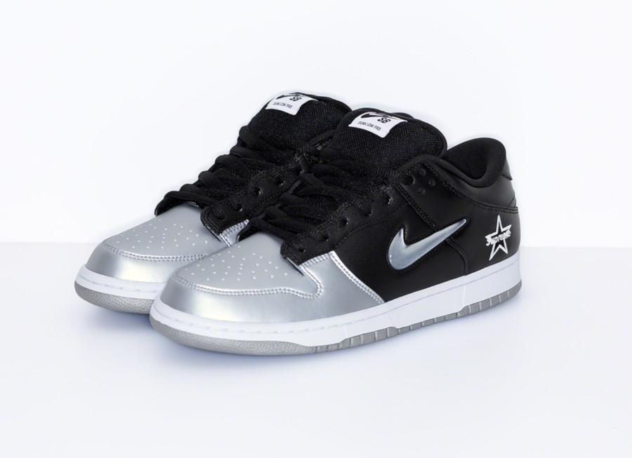 Nike Dunk Low SB noire et gris métallique CK3480-001 (2)