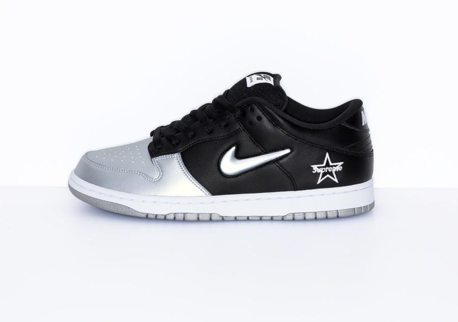 Nike Dunk Low SB noire et gris métallique CK3480-001 (3)