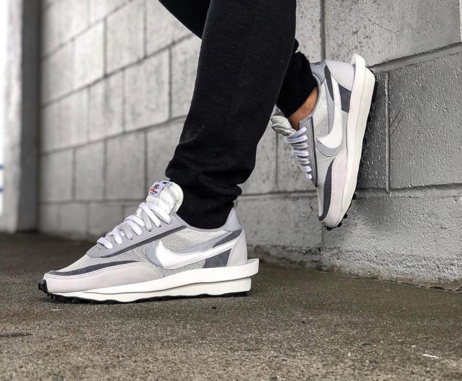 Nike LD Waffle grise blanche et noire (septembre 2019) (3)
