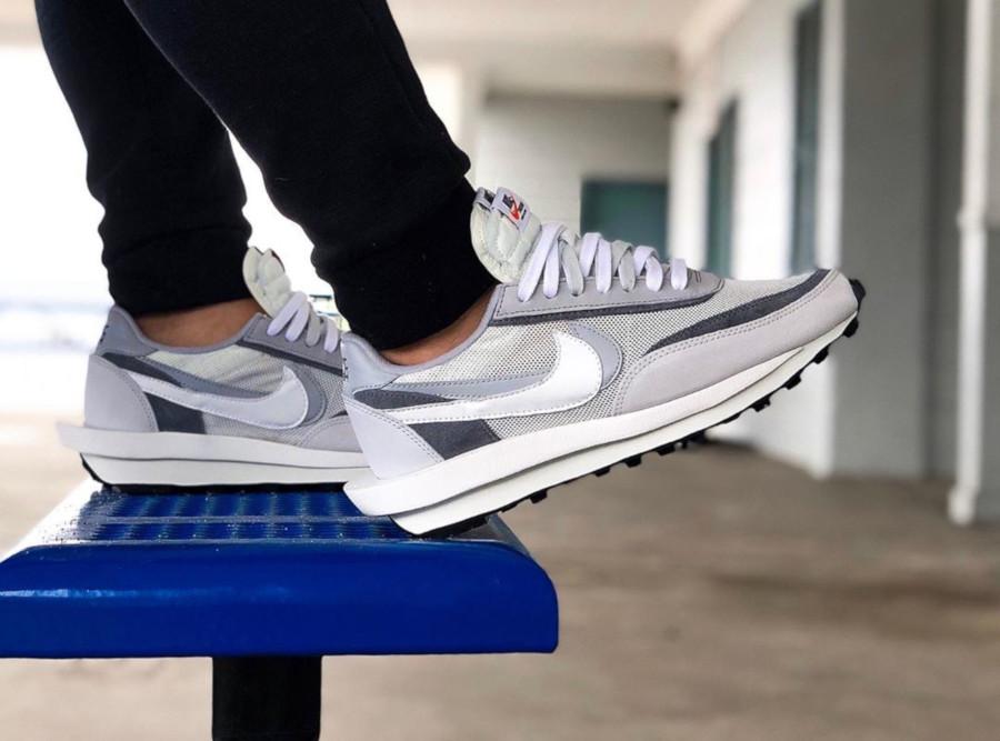 Nike LD Waffle grise blanche et noire (septembre 2019) (5)