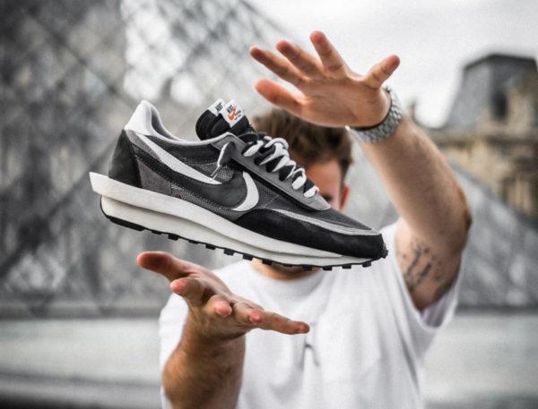 Nike LD Waffle noire grise et blanche (1)