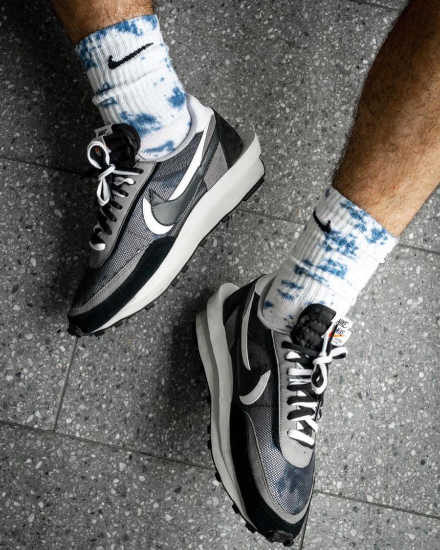 Nike LD Waffle noire grise et blanche (4)