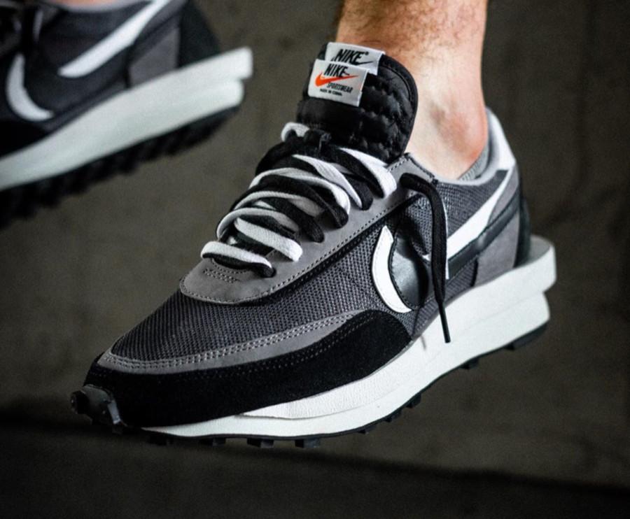 Nike LD Waffle noire grise et blanche (5)