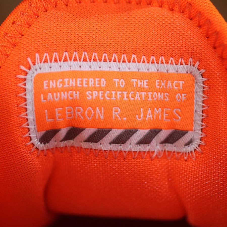 Nike Lebron 17 blanche orange iridescent (10)