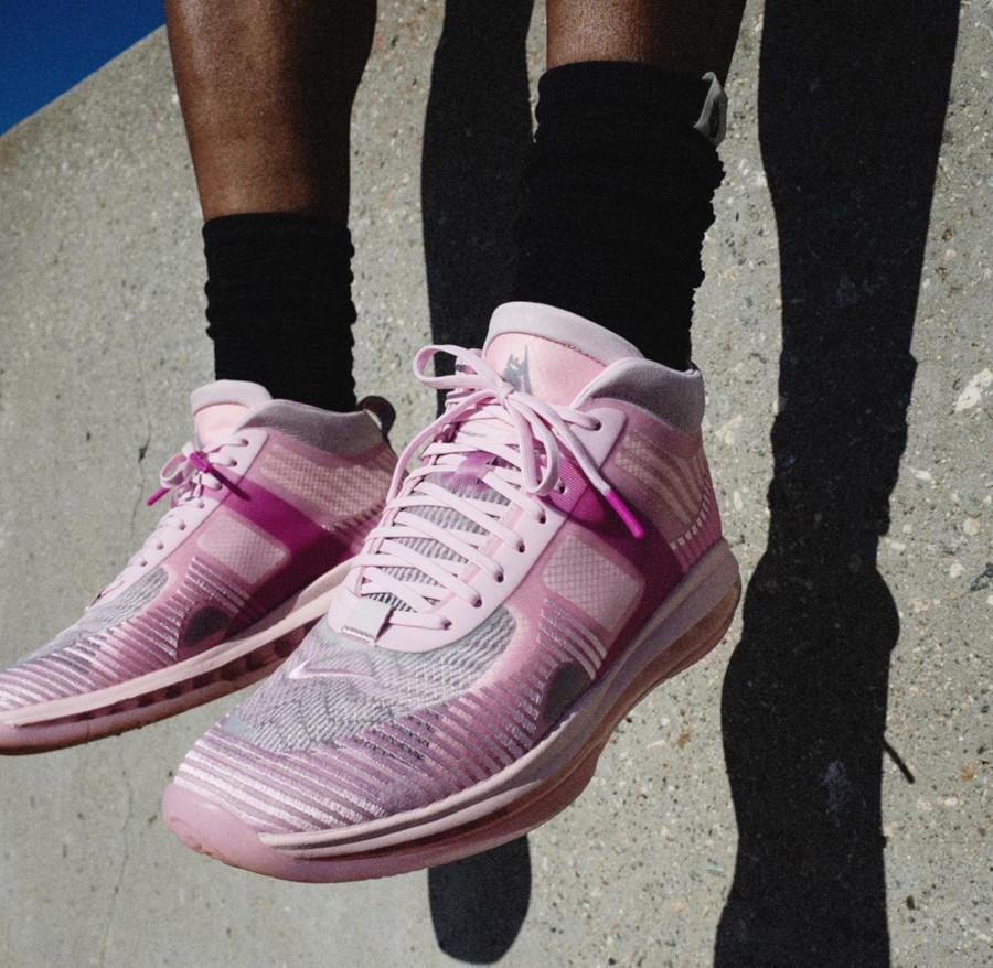 Nike Lebron James X JE toute rose (1)