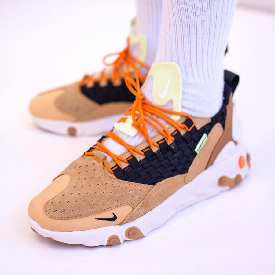 Nike React Sertu 'THE10TH' Gold Wheat AT5301-700 (2)