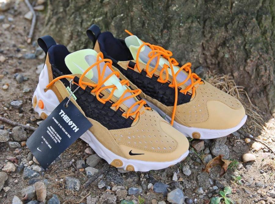 Nike React Sertu marron beige et noire (1)