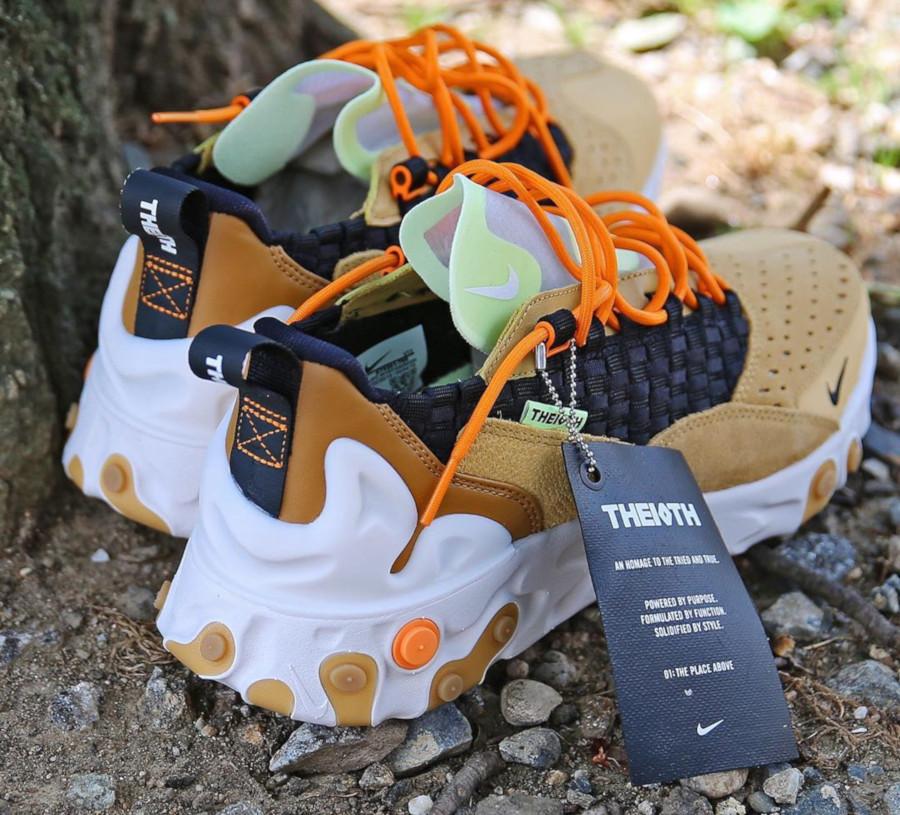 Nike React Sertu marron beige et noire (2)