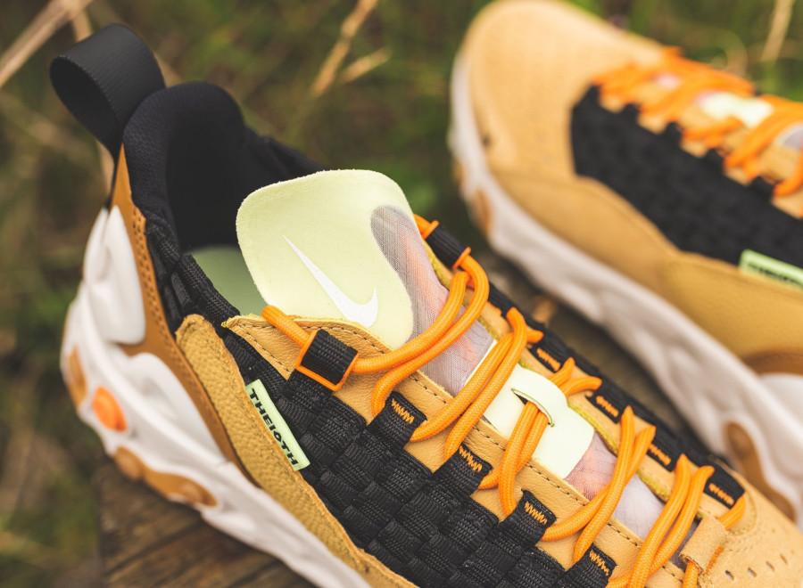 Nike React Sertu marron beige et noire (3)