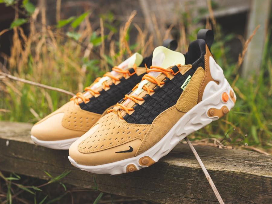 Nike React Sertu marron beige et noire (5)