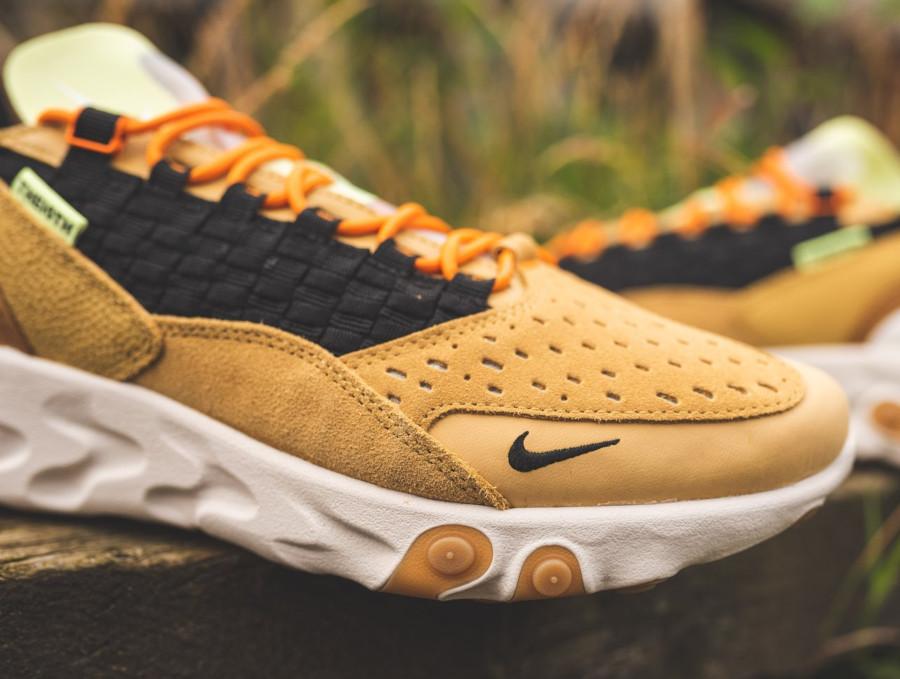 Nike React Sertu marron beige et noire (6)