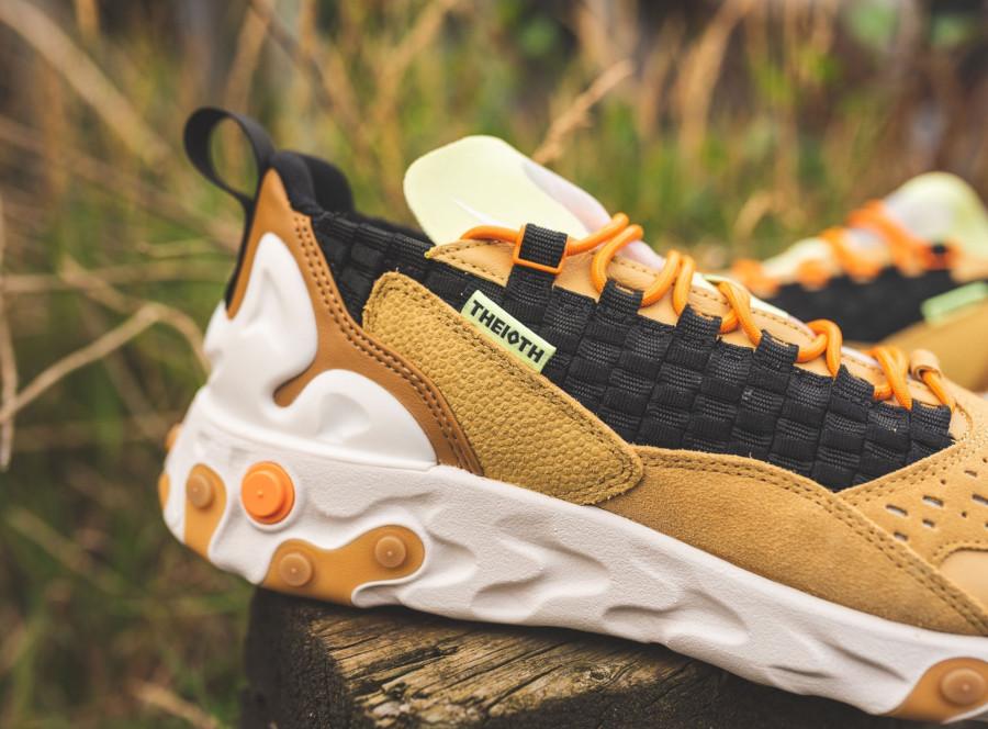 Nike React Sertu marron beige et noire (7)