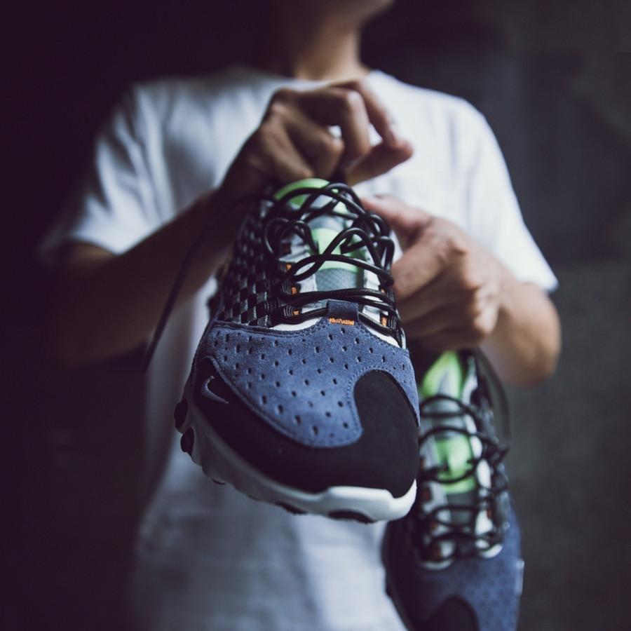 Nike React Sertu noire bleu foncé et jaune fluo (1)
