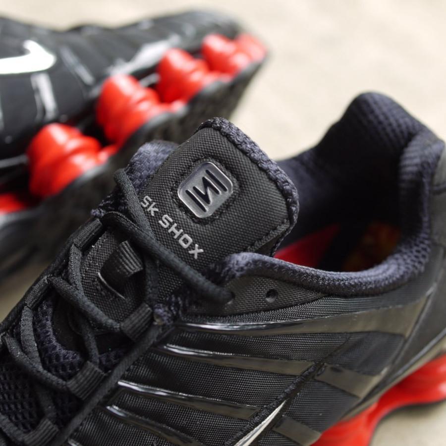 Nike Shox Total noire et rouge (2)