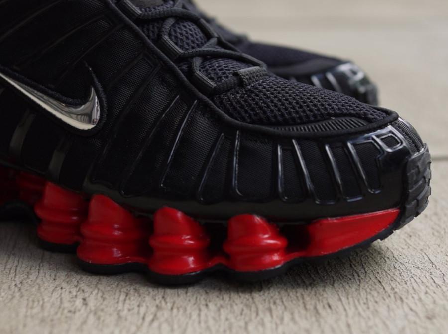 Nike Shox Total noire et rouge (4)