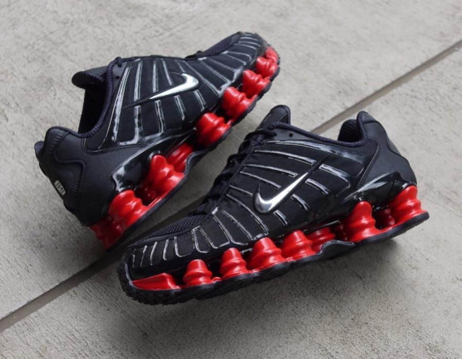 Nike Shox Total noire et rouge (5)