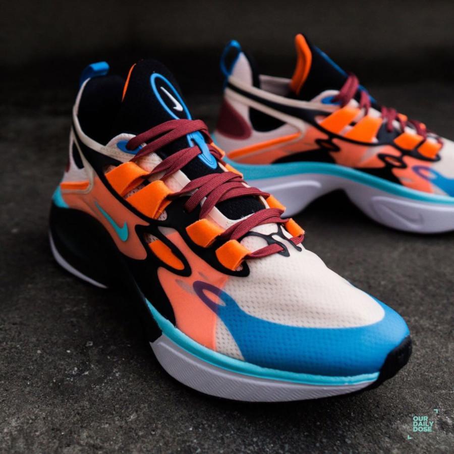 Nike Signal DMSX beige bleu ciel et orange (2)