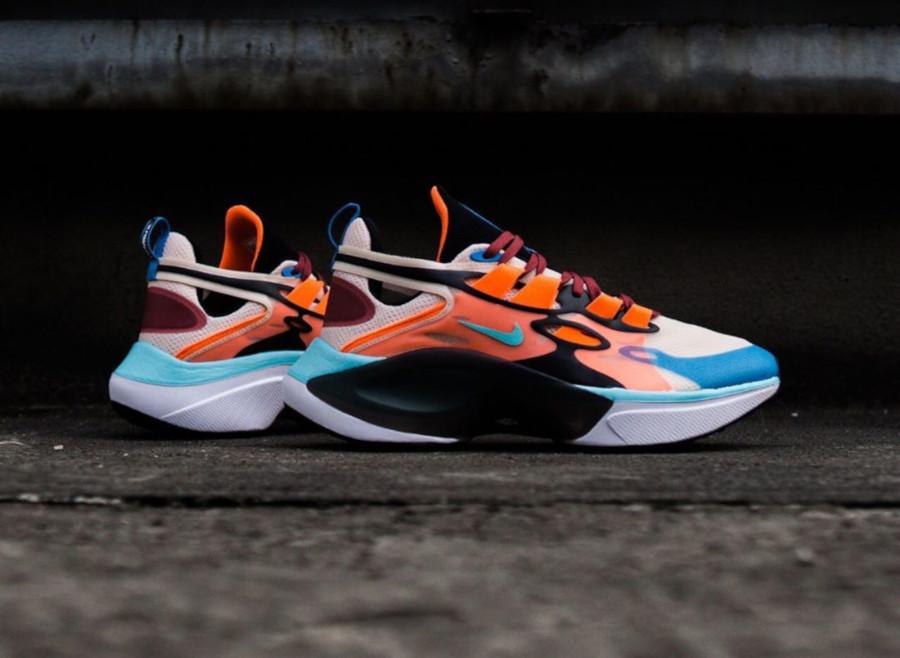 Nike Signal DMSX beige bleu ciel et orange (3)