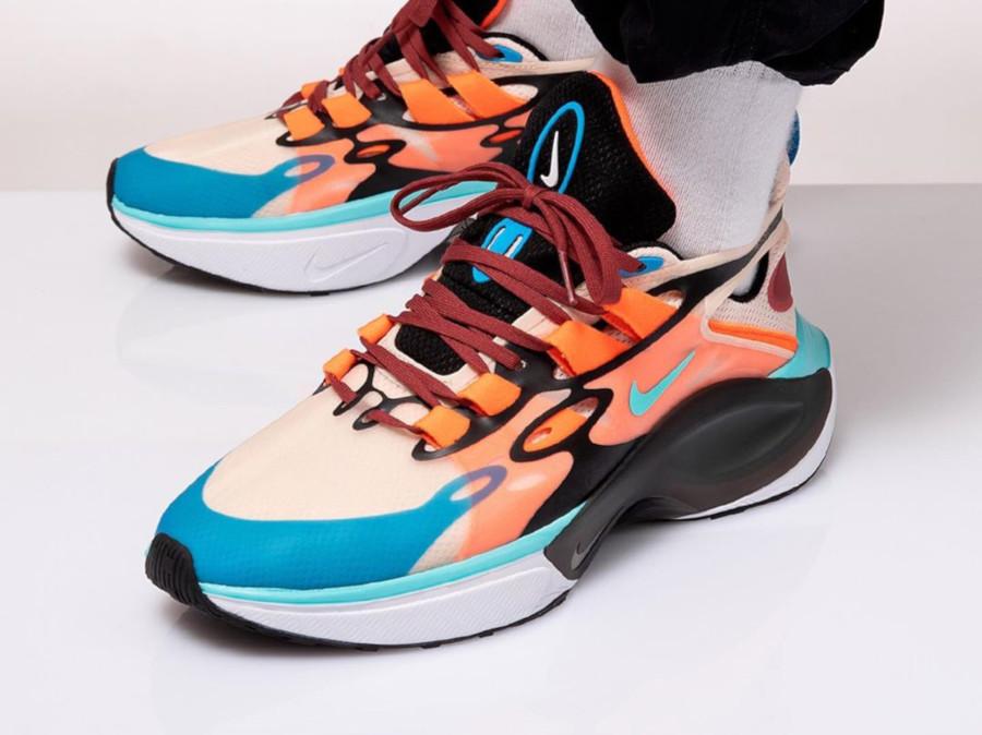 Nike Signal DMSX beige bleu ciel et orange (4)