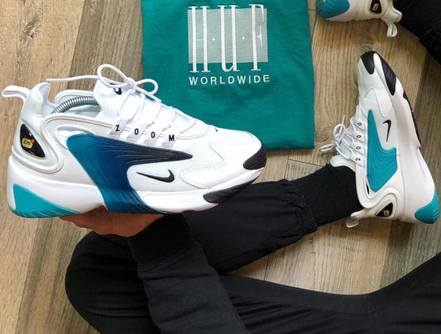 Nike Zoom 2K White Black Teal Nebula AO0269-106
