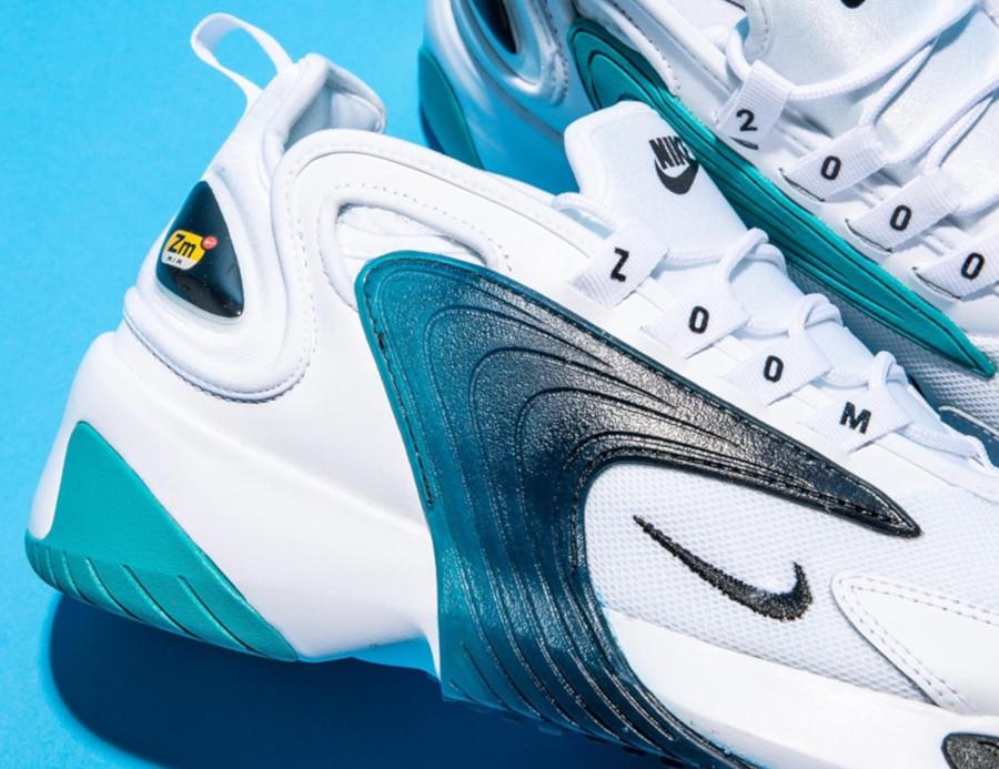 Nike Zoom 2K blanche noire et bleu turquoise (1)