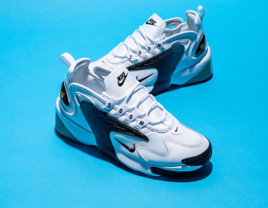 Nike Zoom 2K blanche noire et bleu turquoise (2)