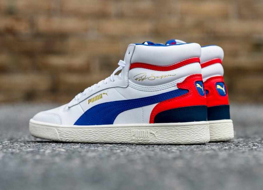 Puma Ralph Sampson blanche bleue et rouge (4)
