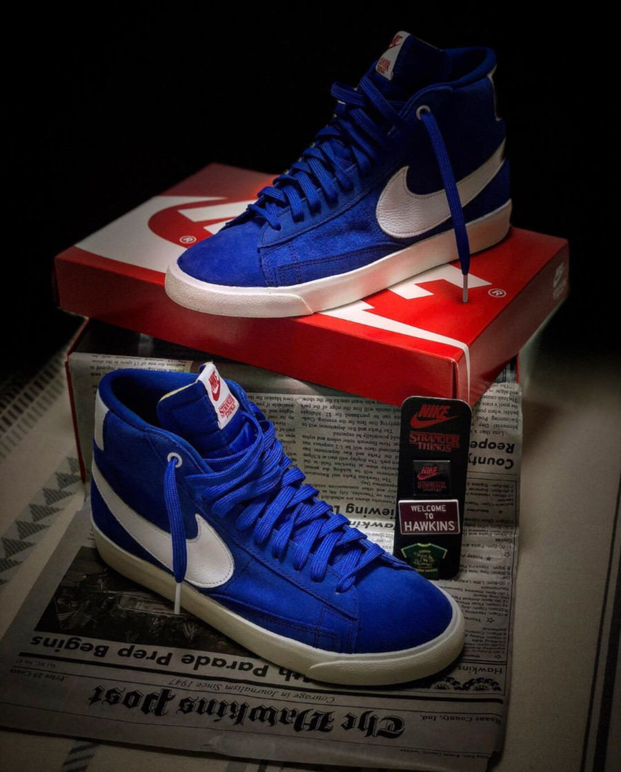 ST x Nike Blazer Mid Blue Game Royal OG Pack - @moriboy_kicks