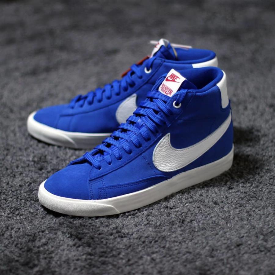 ST x Nike Blazer mi montante en suède bleu (1)